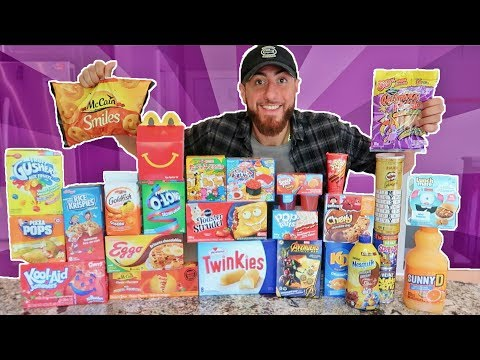 I Only Ate KIDS SNACKS and KIDS FOODS For 24 Hours! (IMPOSSIBLE FOOD CHALLENGE)