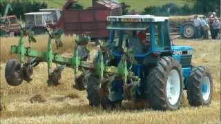 Big Ford tractor ploughing