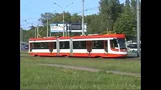 Трамвай. Санкт-Петербург. Трамвай 71-631-02. Маршрут №52. Вагон 5215.