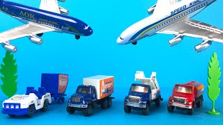 Airport Action Set Playset with planes Loading Trucks Fuel Tankers Disney Planes Dust Crophopper