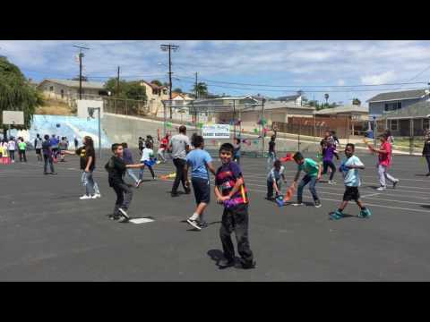 Bandini Elementary School was taught by Cardio Carnival about staying healthy.