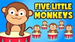 Five Little Monkeys |  Nursery Rhymes | Songs for Kids