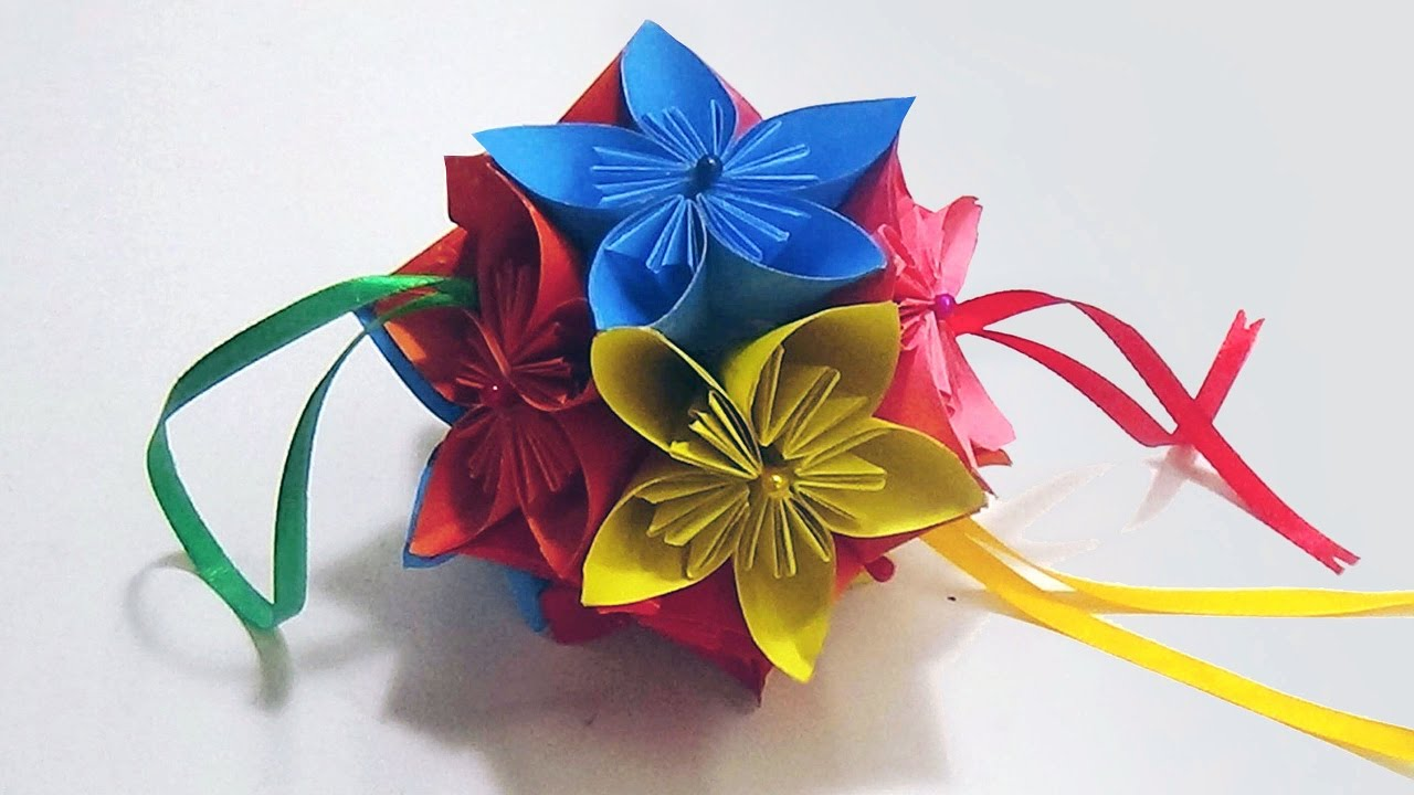 How to make origami kusudama flower step by step - How To Make An Origami Kusudama Flower Ball Easy And Simple Steps