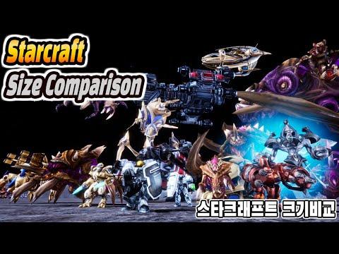 Starcraft Unit Real Size Comparison 4K (스타크래프트 유닛 실제 크기 비교)