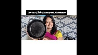 Cast Iron Skillet Seasoning Tamil/How to use Cast Iron Skillet First time/Madurai Sikkander Stores