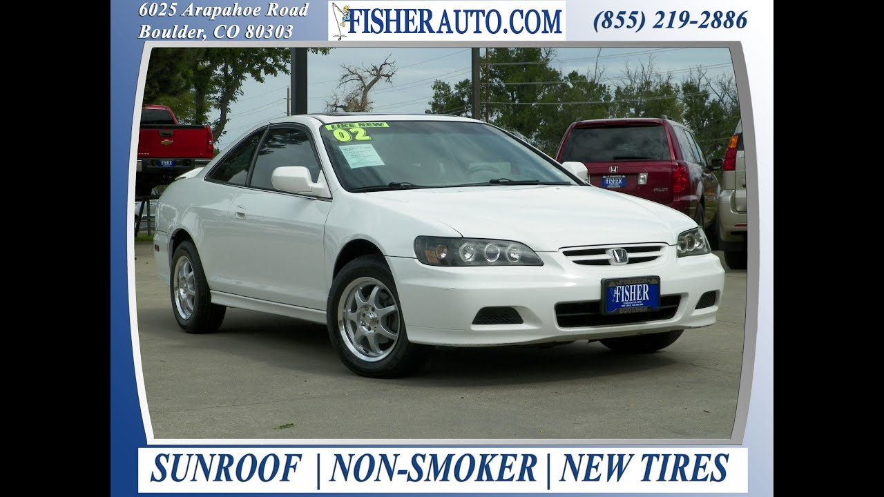 2002 Honda Accord LX White | $6,900* | Boulder, Colorado | Fisher Auto  (Stock #P6789)