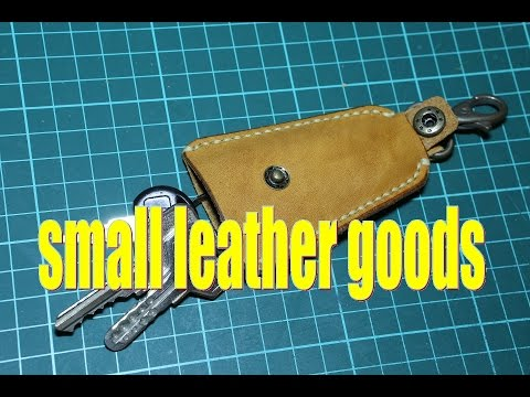 making a simple leather keys holder