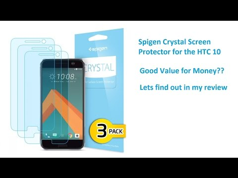 more photos 7b9d9 bc116 Review of the Spigen Crystal Screen Protector for the HTC 10 - YouTube