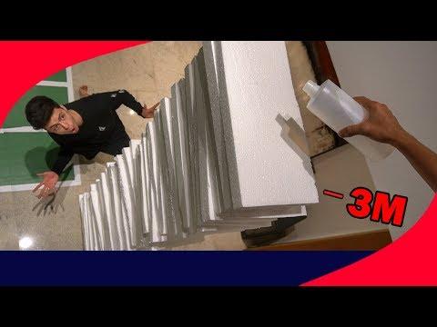 ACETONA VS 3 METROS DE ISOPOR!!