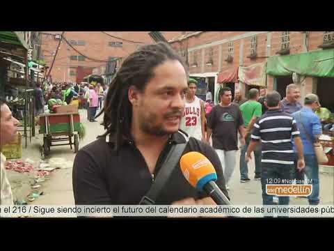 Tensionante proceso de desalojo en la Plaza de Mercado de Bello [Noticias] - Telemedellín