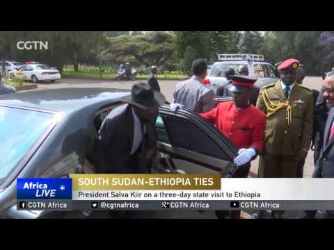 President Salva Kiir on a three-day state visit to Ethiopia