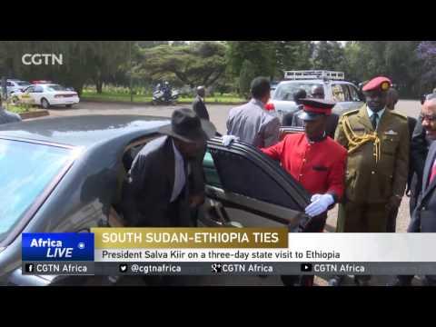 President Salva Kiir on a three-day state visit to Ethiopia
