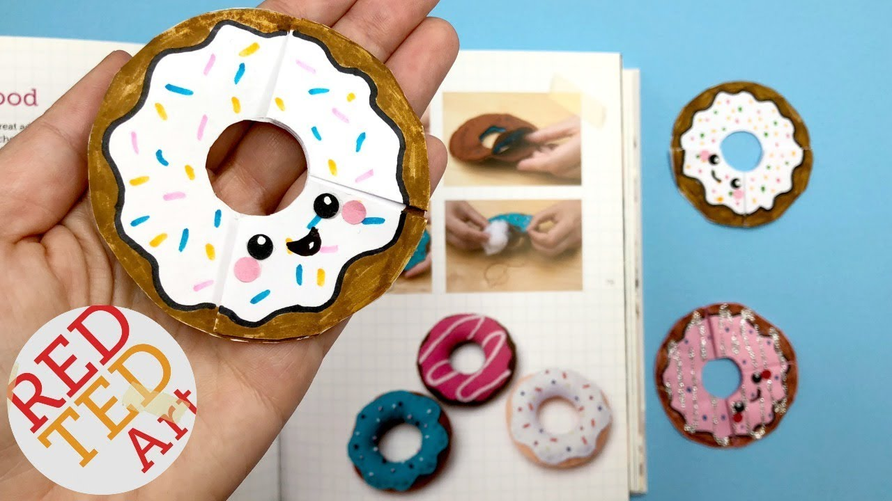Easy Diy Donuts Bookmark Diy Paper Crafts Youtube