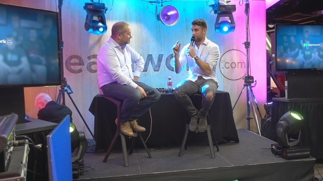 conor murray interviewed on stage at the teamwork campus one conor murray interviewed on stage at the teamwork campus one launch