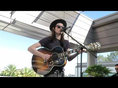 """James Bay singing """"I'm On Fire"""" -acoustic Bruce Springsteen cover 11-29-15"""