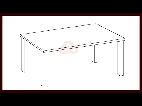How To Draw A Desk Step By