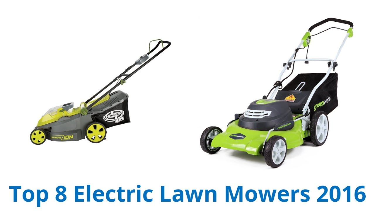 8 best electric lawn mowers 2016 youtube. Black Bedroom Furniture Sets. Home Design Ideas
