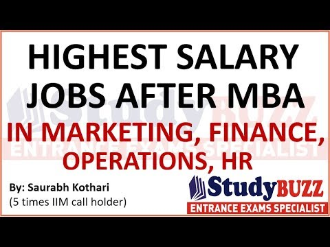 Which are the best & highest paying jobs after doing MBA?