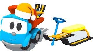 Leo el Camión. Un Coche De Dibujos Animados. Hijos De Un Video Educativo