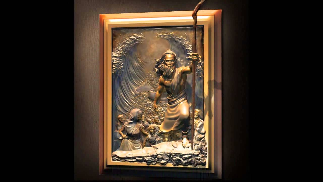 The crossing moses high relief sculpture youtube