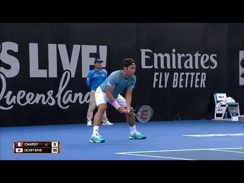 Chardy vs Uchiyama match highlights (QF) | Brisbane International 2019