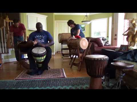 African Djembe Drum Class  Sample Video1