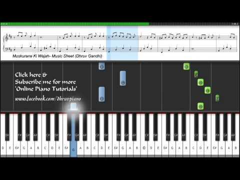 ♫ Muskurane Ki Wajah - City Lights (Piano Tutorial + Music Sheet + MIDI) -- Dhruv Gandhi