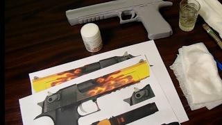Как самому сделать рисунок (скин) на оружии. Процесс создания  Desert Eagle пламя CS GO