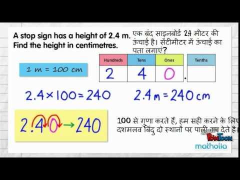 converting metre into centimetre