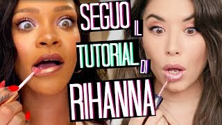 FOLLOW THE RIHANNA TUTORIAL ... READY IN 10 MINUTES with Fenty Beauty?!? 😱❤️ | Adriana Spink