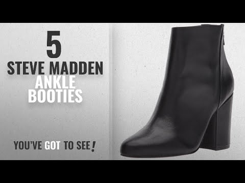 Top 5 Steve Madden Ankle Booties [2018]: Steve Madden Women's Star Ankle Boot, Black Leather, 9 M