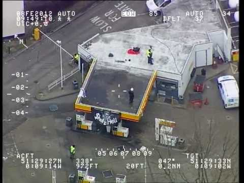 Police Helicopter footage from the Occupy Oil direct action against Royal Dutch Shell