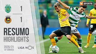 Highlights | Resumo: Sporting 1-1 Rio Ave (Liga 20/21 #14)