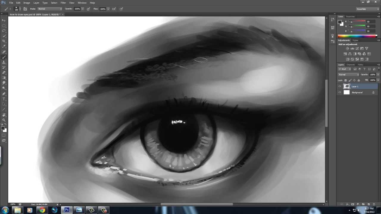 desenează îngrijește-ți ochii