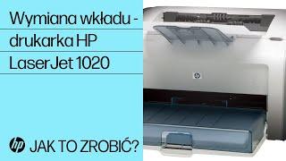 Wymiana wkładu — drukarka HP LaserJet 1020