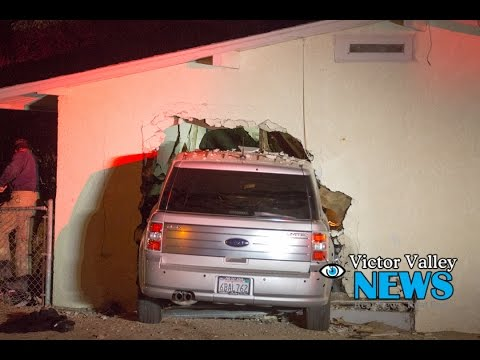A Car Slammed Into Victorville Home Pinning One Person