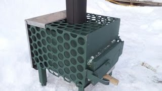 My homemade woodstove for my tiny home cost 80 & 8 hrs labor