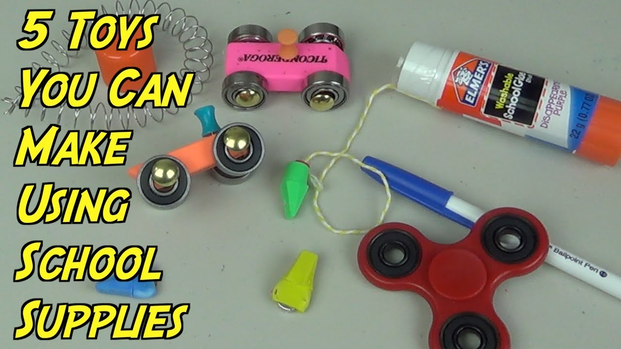 5 Toys You Can Make In Class Using School Supplies Back