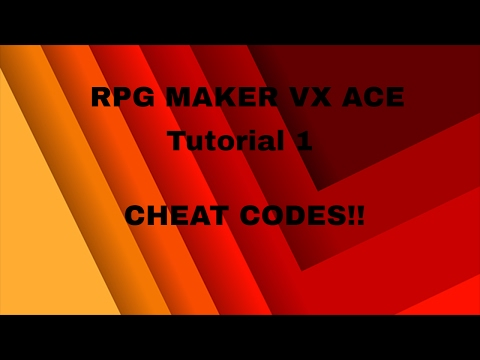 RPG Maker Tutorial 1: How To Make A Cheat Code In VX Ace
