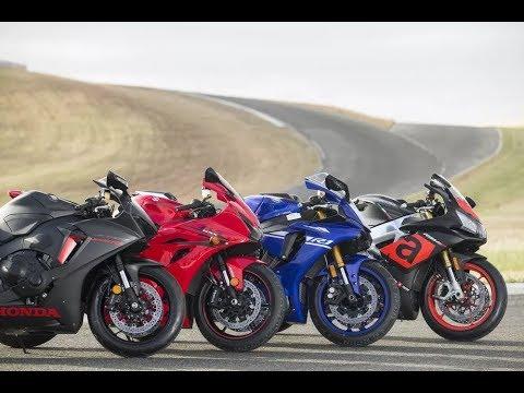 Aprilia RSV4 RR vs. Honda CBR1000RR vs. Suzuki GSXR1000 vs. Yamaha YZFR1  Track Comparison
