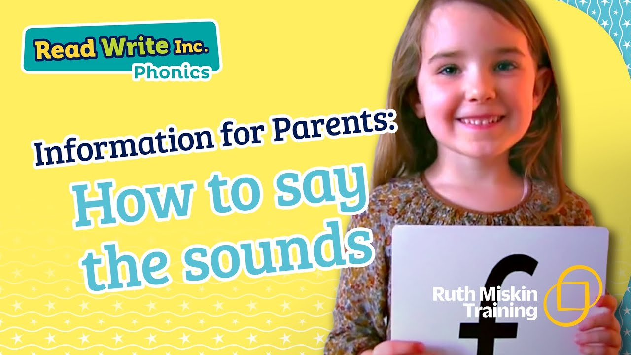 Parent video: How to say the sounds - YouTube