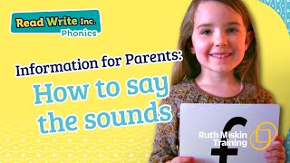 Parent video: How to say the sounds