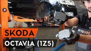 front and rear Brake Pads fitting SKODA OCTAVIA Combi (1Z5): free video