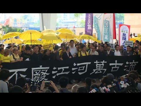 Violence rocks Hong Kong protests while China, US clash over extradition bill