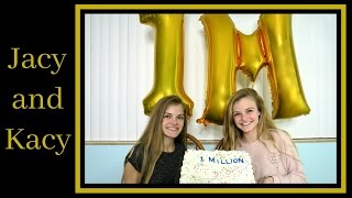 1 MILLION SUBSCRIBERS ~ THANK YOU SO MUCH! ~ LIVE REACTION ~ Jacy and Kacy
