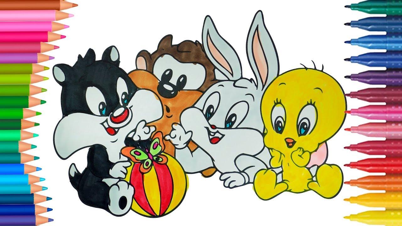 Dibujos Para Colorear De Luny Tunes Bebes: Dibujar Y Colorea Bebé Looney Tunes