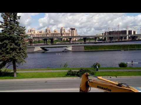 Saint Petersburg,construction of the Zenit stadium on Krestovsky island,4K stabilization