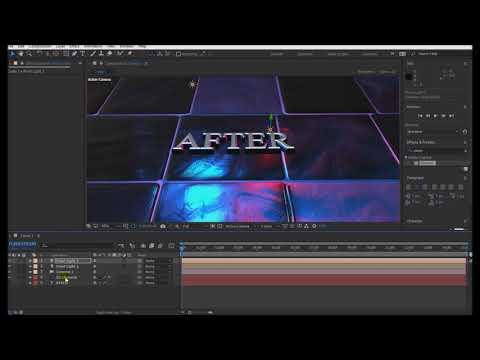 #11 After Effects Dersleri 3D Element Tutorial Text 3D Element Yazı