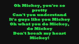 Hey Mickey! with lyrics