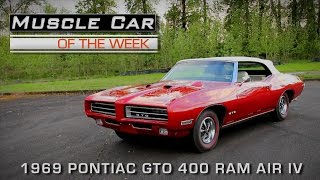 Muscle Car Of The Week Video Episode #171: 1969 Pontiac GTO 400 Ram Air IV V8TV
